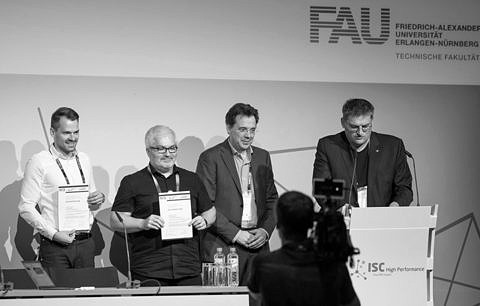 "Zum Artikel ""Gauss Award presented to Johannes Hofmann, Georg Hager, and Dietmar Fey at ISC18"""
